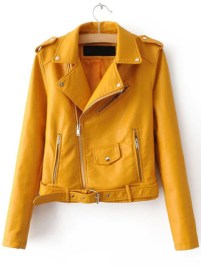 http://us.shein.com/Yellow-Faux-Leather-Belted-Moto-Jacket-With-Zipper-p-304379-cat-1776.html?utm_source=shareasale.com&utm_medium=affiliate&affiliateID=256758