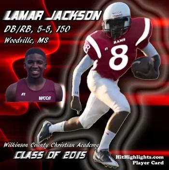 Lamar Jackson Football Player Card Poster Class of 2015