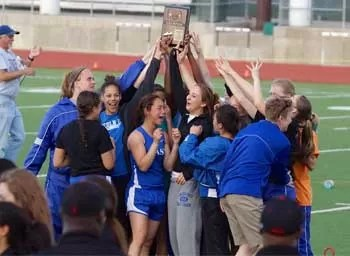 2013 Girls A3-District team  champions Lincoln East photo image.