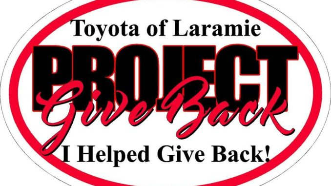 Toyota Of Laramie >> Project Give Back Underway At The All New Toyota Of Laramie Hits 106