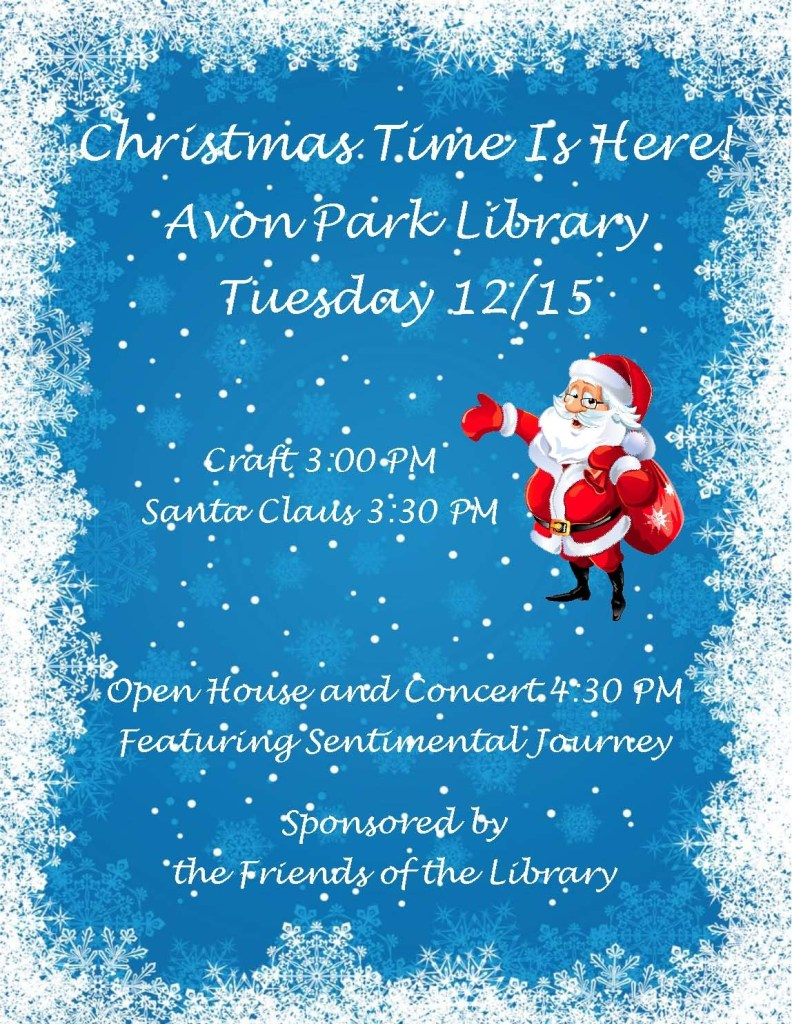 Christmas Time Is Here Avon Park Library Tuesday 1215 Heartland