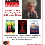 Avon Park Library - Meet the Author -Ronald O. Reis Tuesday, April 4