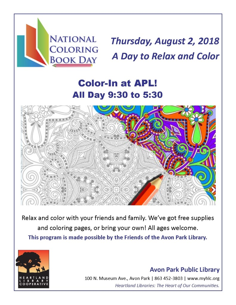 APL National Coloring Book Day 2018