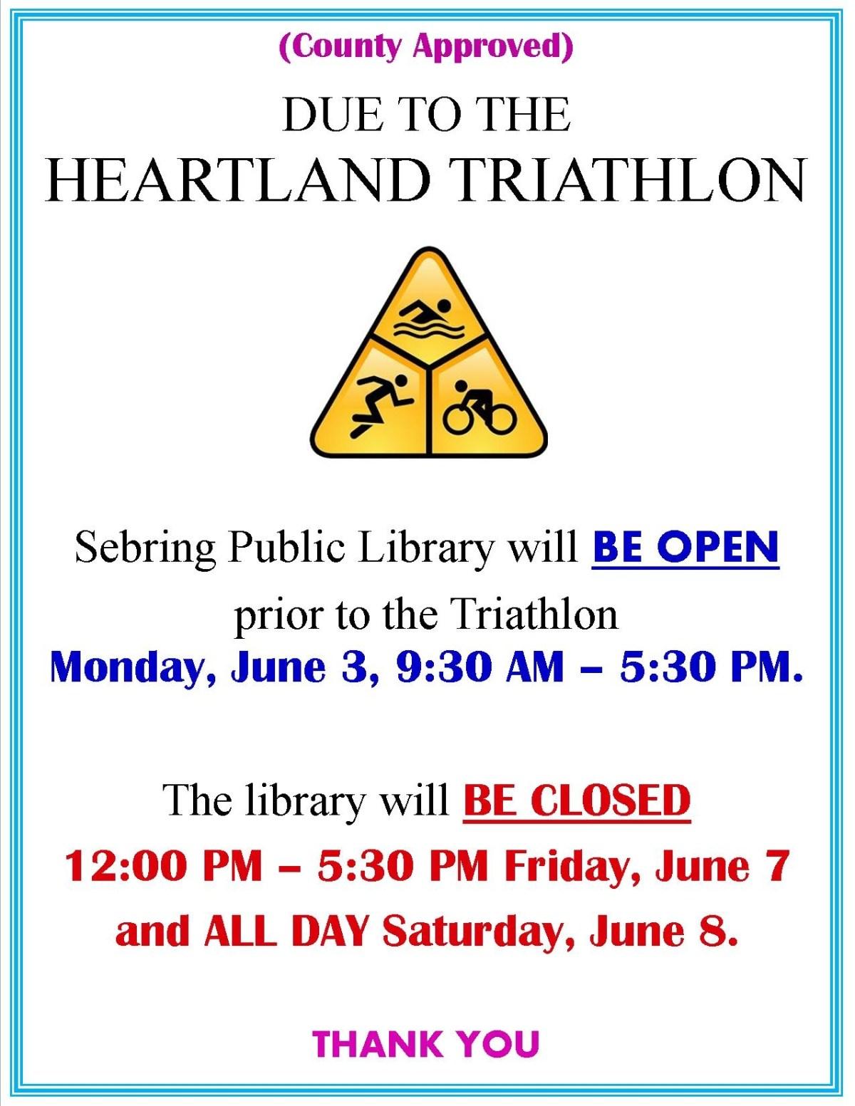 Heartland Triathlon Website posting