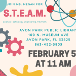 Avon Park Public Library's S.T.E.A.M. event on February 5, 2020