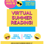 This year the Okeechobee County Public Library is bringing you a VIRTUAL Summer Reading Program on Facebook! To participate just join our private facebook group Okeechobee Library's Virtual Summer Reading! at facebook.com/groups/okeesummer20 The programming will include comedy story theater shows, crafts, recipes, author interviews, guest performers, contests, games, and much more. Two free take home activity kits will be available weekly at the Okeechobee Public Library and the Okeechobee Parks and Recreation office for this program!