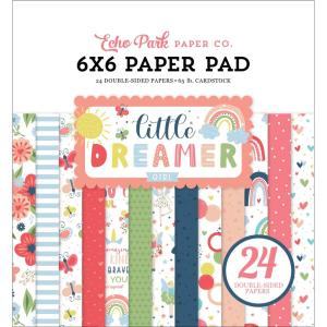 echo park - little dreamer girl -6x6 - my hobby my art -