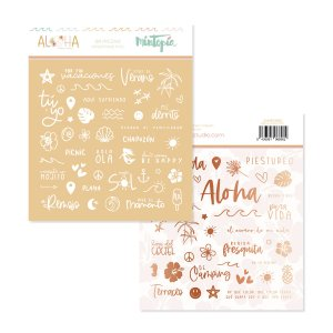 Aloha - Mintopia Studio - Basic Crea - My Hobby My Art - coleccion Aloha - clear stickers