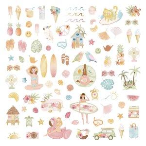 Aloha - Mintopia Studio - Basic Crea - My Hobby My Art - coleccion Aloha - die cuts ilustraciones