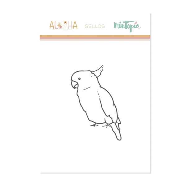 Aloha - Mintopia Studio - Basic Crea - My Hobby My Art - coleccion Aloha - sello cacatua