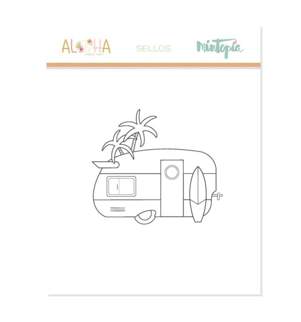 Aloha - Mintopia Studio - Basic Crea - My Hobby My Art - coleccion Aloha - sello caravan