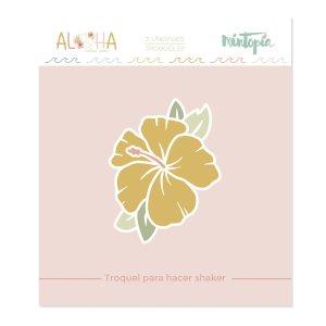 Aloha - Mintopia Studio - Basic Crea - My Hobby My Art - coleccion Aloha - troquel flor de hibiscu