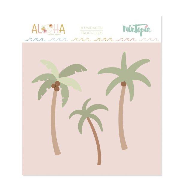 Aloha - Mintopia Studio - Basic Crea - My Hobby My Art - coleccion Aloha - troquel palmeras