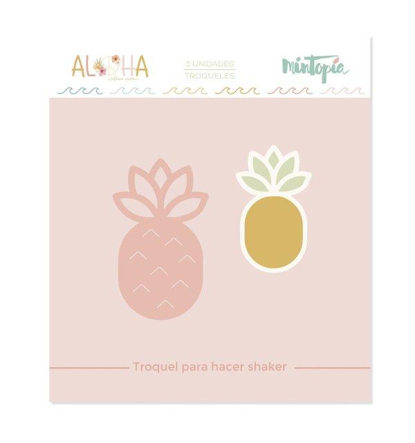 Aloha - Mintopia Studio - Basic Crea - My Hobby My Art - coleccion Aloha - troquel pina shaker - pineaple