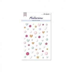 lora bailora - my hobby my art - mediterrano - enamel dots - stickers