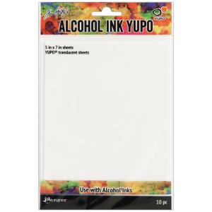 Tim Holtz Alcohol Ink Translucent Yupo Paper 10 Sheets - my hobby my art