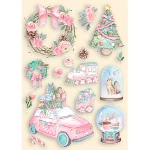 My Hobby My Art - Johanna Rivero - Navidad Rosa - coleccion Navidad - madera - die cuts