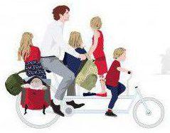 自転車家族乗り