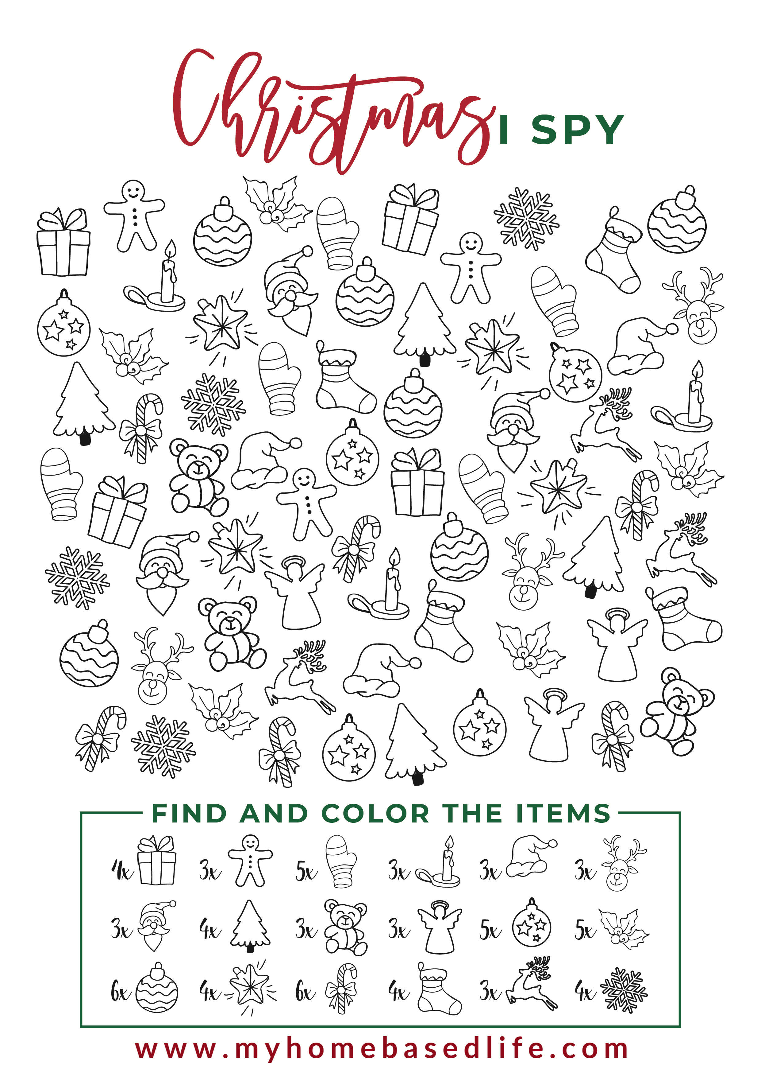 I Spy Christmas Printable