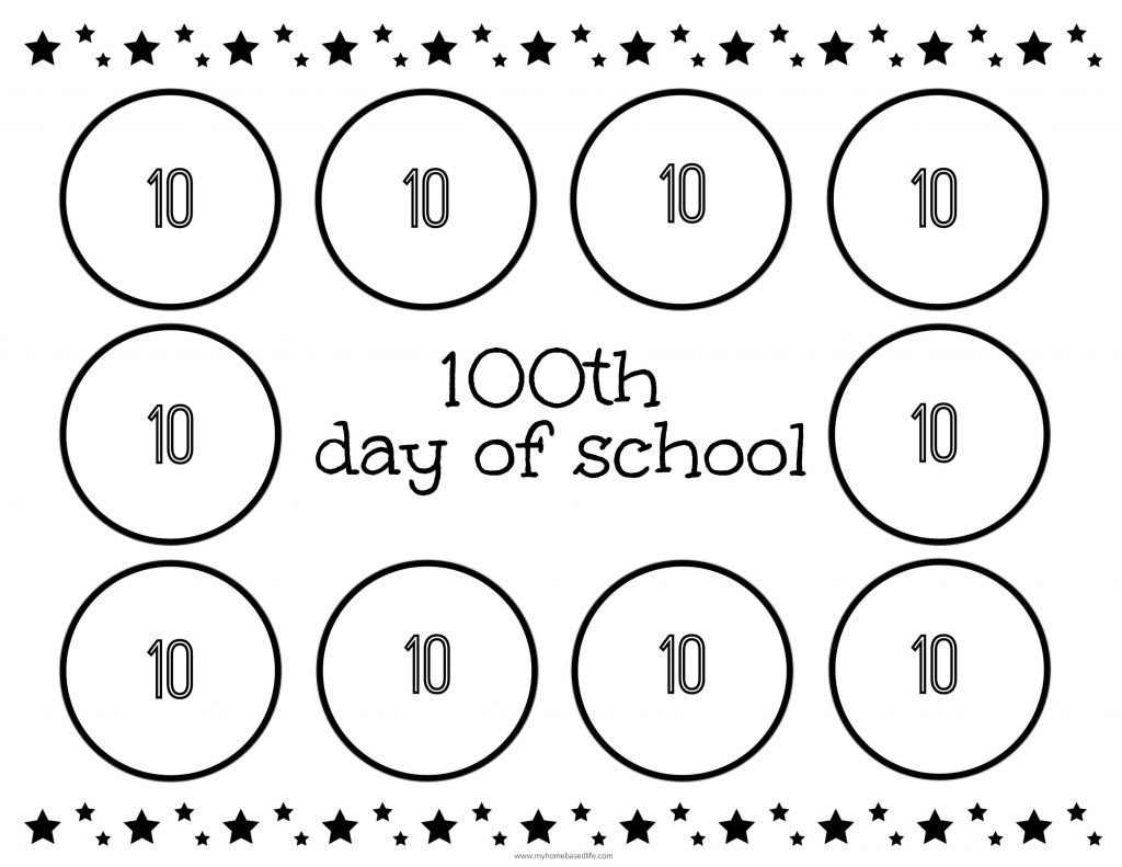100th Day Of School Counting Mat
