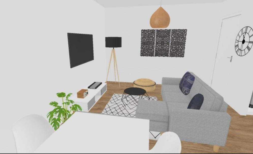 plan 3D aménagement salon