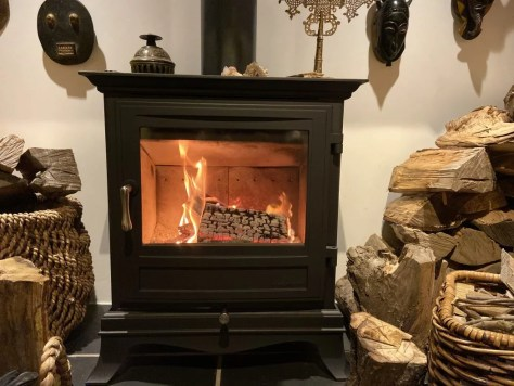 clean wood burning stove glass