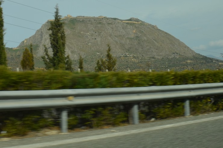 Acrocorinth from the highway