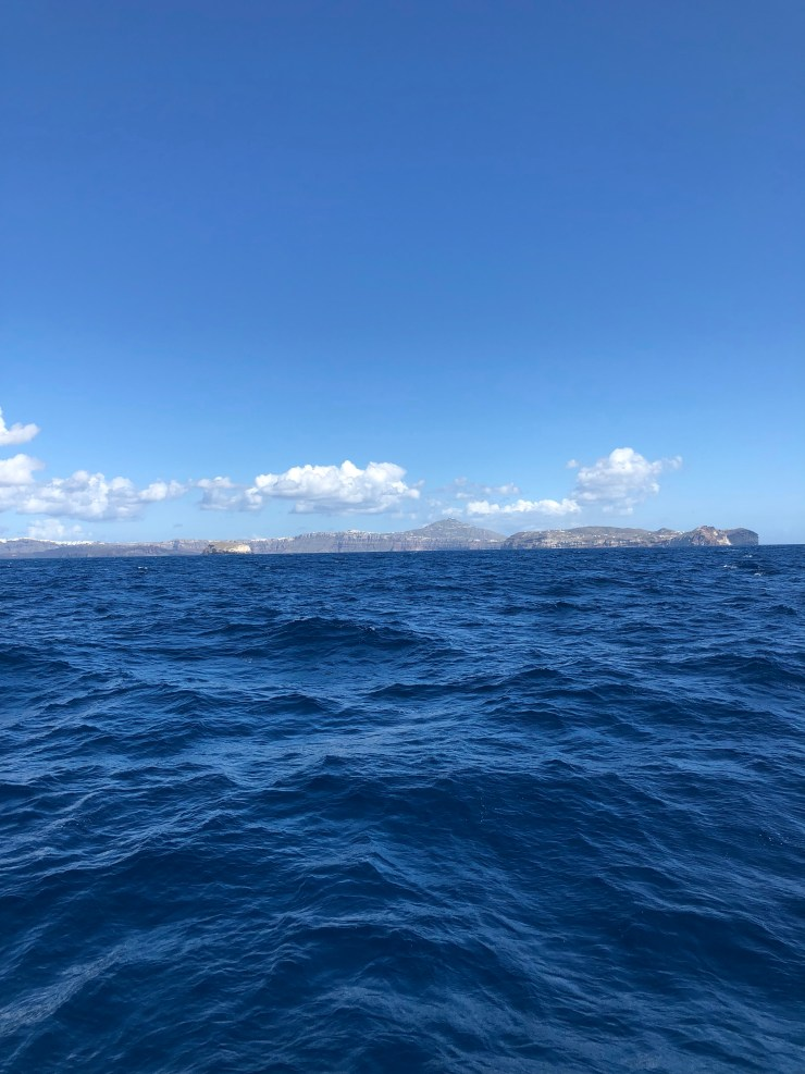 The Thera volcano from about 5nm offshore