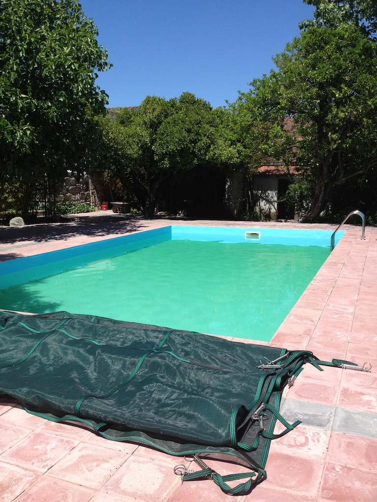 The swimming pool turned green because of a chemical imbalance