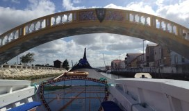 On a gondola tour of Aveiro