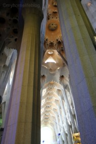Amazing light throughout the church - Sagrada Familia