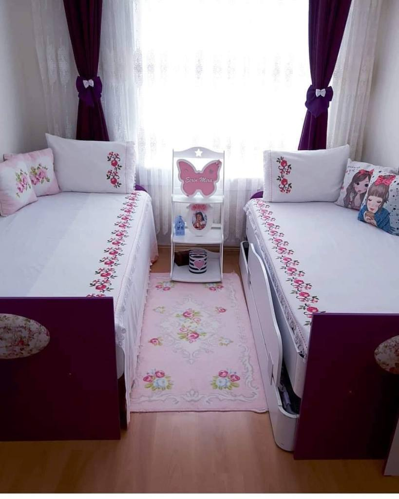 Two beds room for girls