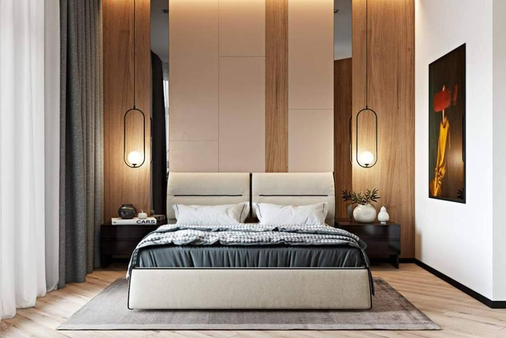 Mirror paneling bedroom