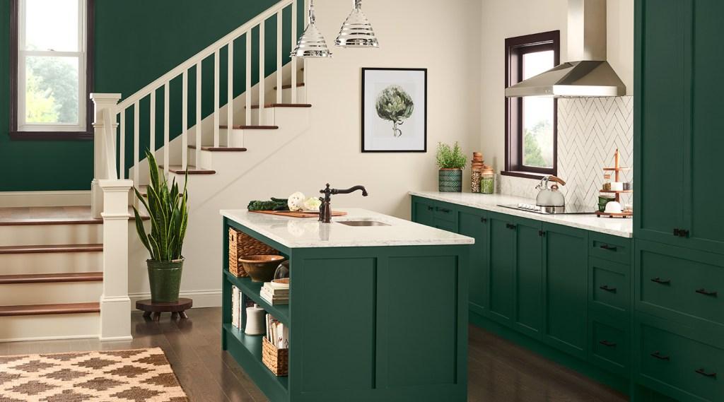 kitchen with top floor path