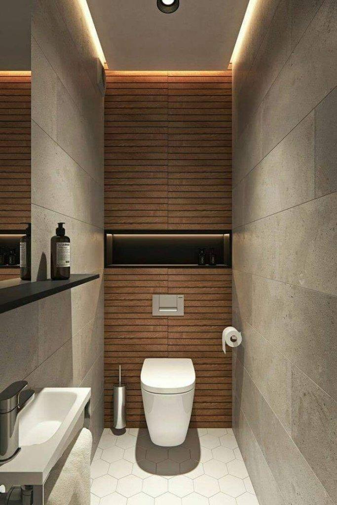 Small rectangular bathroom design concept
