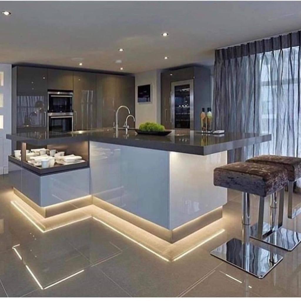 Modern lightening kitchen design idea