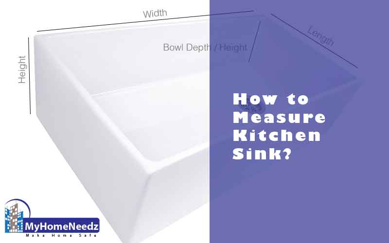 how to measure a kitchen sink a step