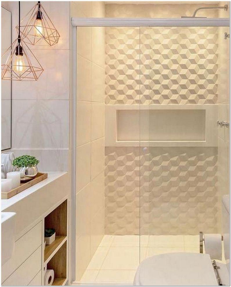 herringbone shower tile design