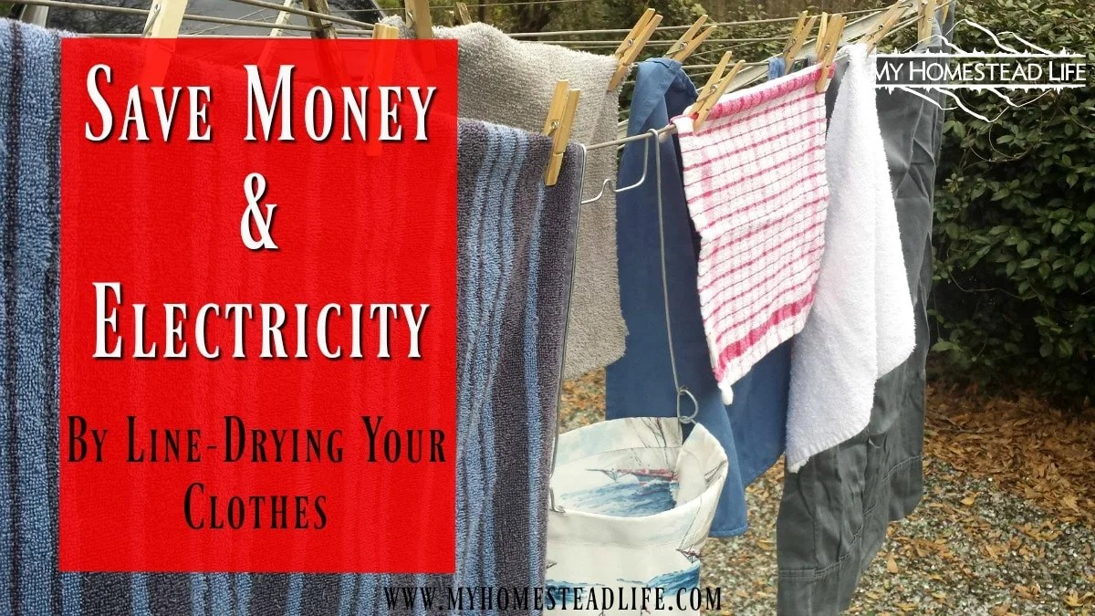 Save Electricity & Money by Line-Drying Your Clothes. Cut up to $60.00 per month off your electric bill!