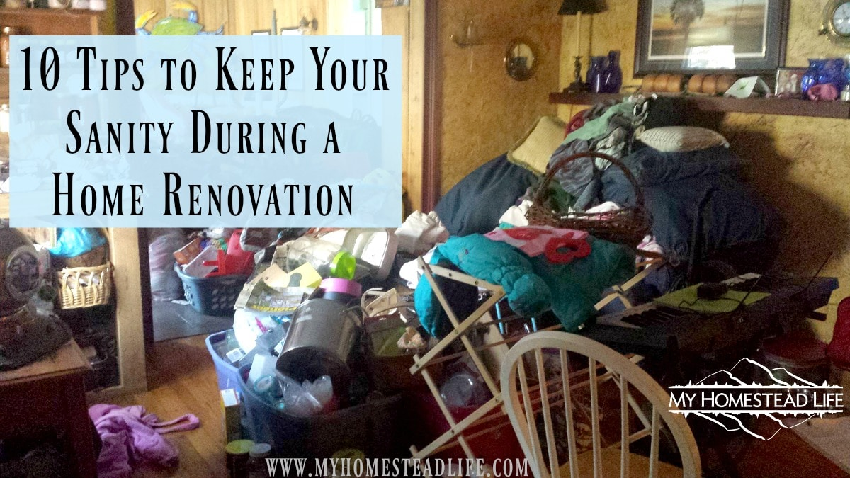 10 Tips to keep your sanity during a home renovation or construction- and possibly save your marriage.