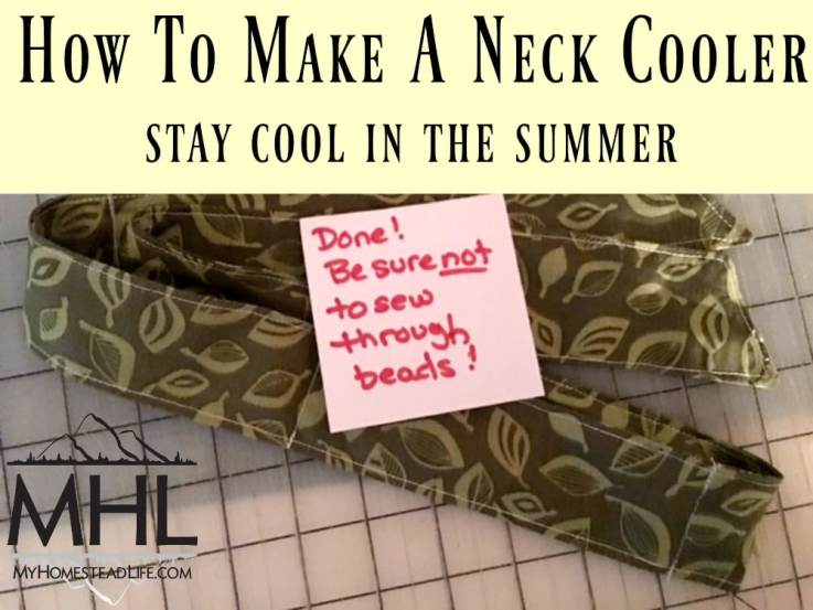 How to make a neck cool and stay cool in the summer heat