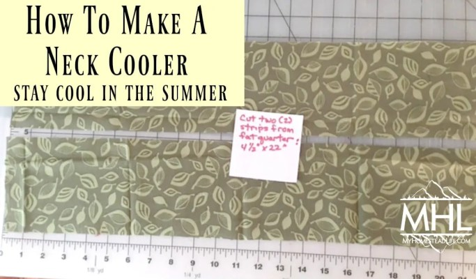 How to make a neck cooler and stay cool in the summer