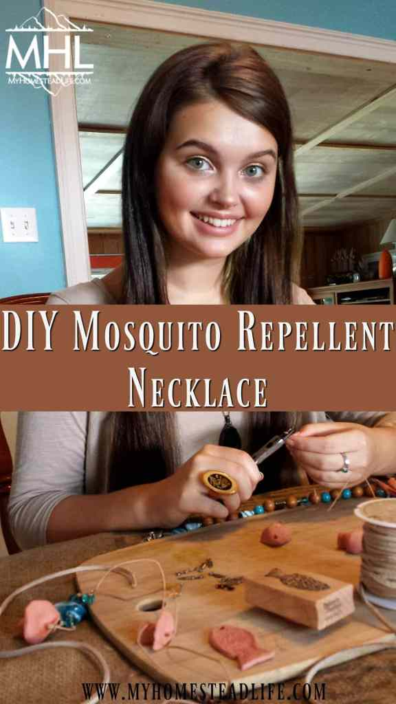DIY Mosquito Repellent Necklace that is beautiful and effective.