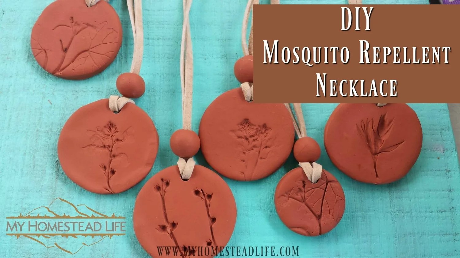 Terra cotta Mosquito Repellent Necklace, beautiful and effective! Image used with permission.