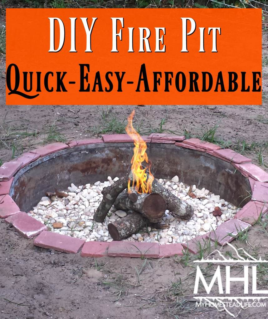 DIY Fire Pit-Quick,Easy,Affordable