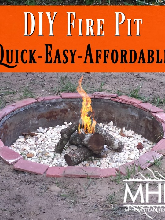 DIY Fire Pit- Quick, Easy & Affordable