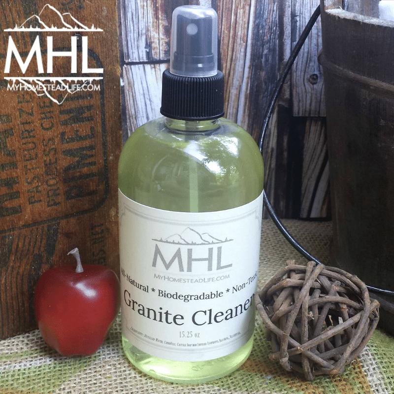 Handcrafted Apple Cinnamon Granite Cleaner by My Homestead Life