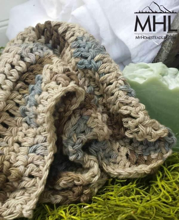 100% Cotton Handmade Spa Washcloth www.myhomesteadlife.com/shop