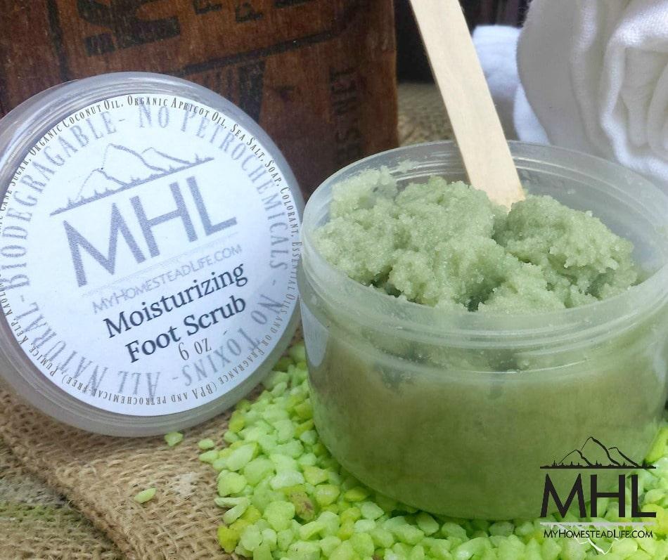 Moisturizing MHL Foot Scrub handcrafted by My Homestead Life
