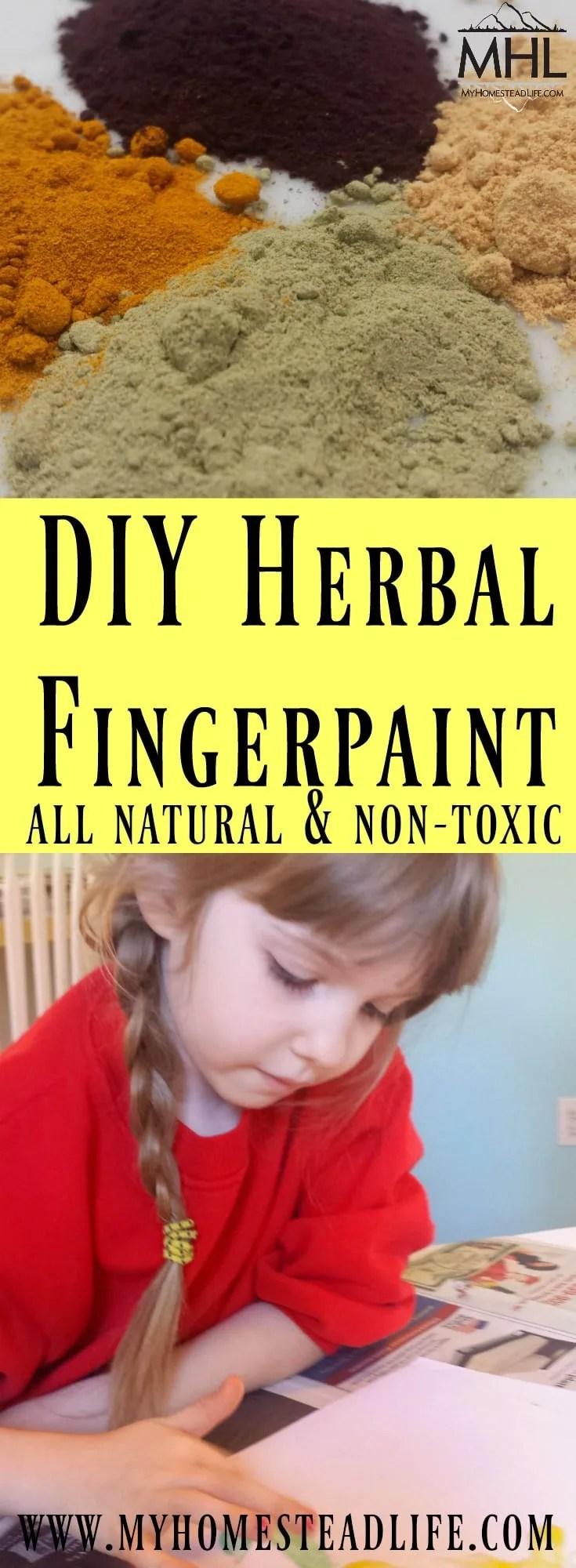 DIY Herbal Fingerpaint recipe.